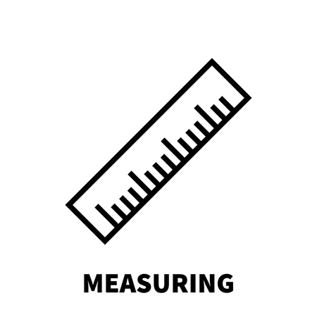 Measuring icon or logo in modern line style. High quality black outline pictogram for web site design and mobile apps. Vector illustration on a white background. Illustration