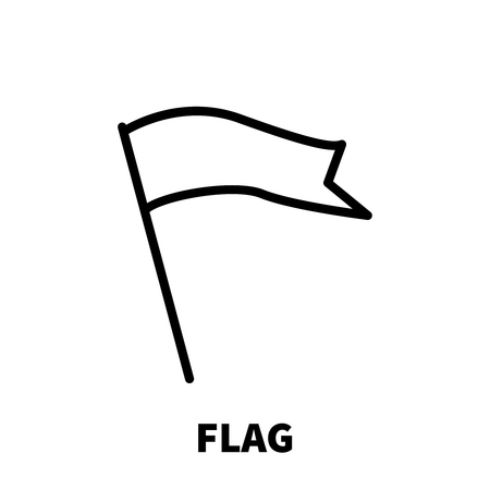 Flag icon or logo in modern line style. High quality black outline pictogram for web site design and mobile apps. Vector illustration on a white background. Illustration