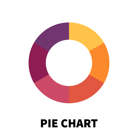 pie chart icon: Pie Chart icon or logo in modern flat style. High quality black pictogram for web site design and mobile apps. Vector illustration on a white background.