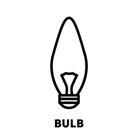 buld: Light bulb icon or logo in modern line style. High quality black outline pictogram for web site design and mobile apps