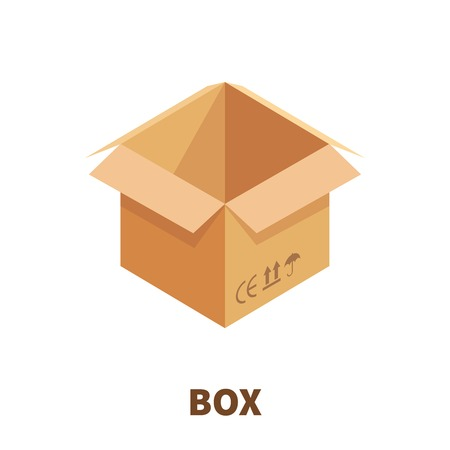 pasteboard: Box  icon or logo in modern flat style. High quality pictogram for web site design and mobile apps. Vector illustration on a white background. Illustration
