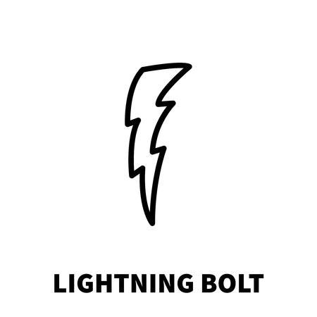 forked: Lightning bolt icon or logo in modern line style. High quality black outline thunderbolt pictogram for web site design and mobile apps. Vector illustration on a white background.