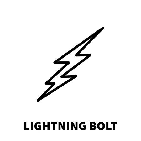 Icono o logotipo del rayo en estilo moderno de la línea. Pictograma del rayo negro de la alta calidad para el diseño del Web site y las aplicaciones móviles. Ilustración vectorial sobre un fondo blanco. Logos