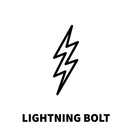 dazzle: Lightning bolt icon or logo in modern line style. High quality black outline thunderbolt pictogram for web site design and mobile apps. Vector illustration on a white background.