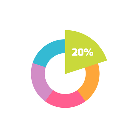 Pie Chart icon or logo in modern flat style. High quality black pictogram for web site design and mobile apps. Vector illustration on a white background.