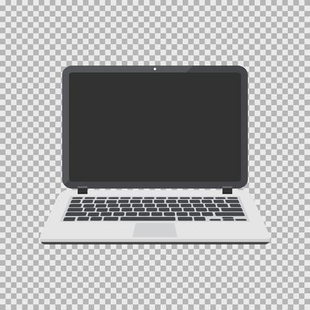 ラップトップ ベクトル イラストの背景に分離されました。空の画面とコンピューター フラット アイコン。  イラスト・ベクター素材