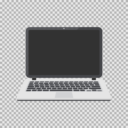 Laptop vector illustration isolated on a background. Computer flat icon with empty screen. Illustration