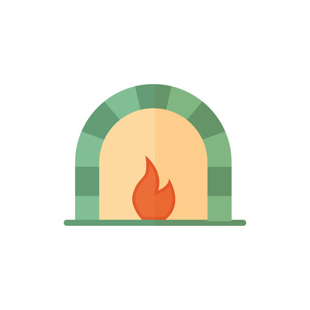 Flat bake icon. Vector illustration isolated on a white background. Simple color pictogram of bake.