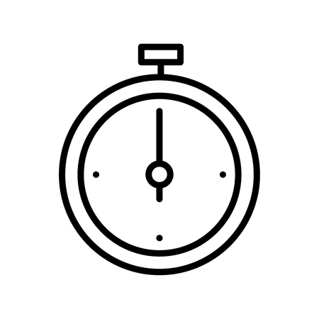 Premium time icon or logo in line style. High quality sign and symbol on a white background. Vector outline pictogram for infographic, web design and app development.