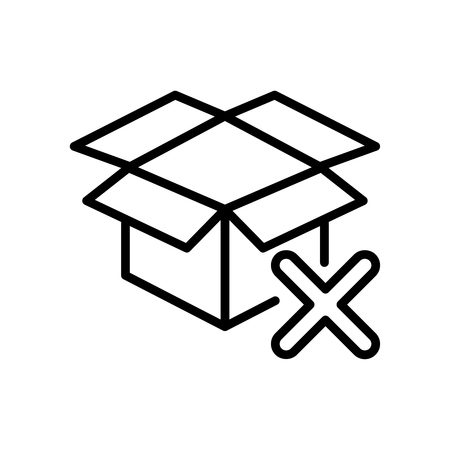 Premium box icon  in line style. High quality sign and symbol on a white background. Vector outline pictogram for infographic, web design and app development.