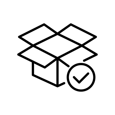 Premium box icon or logo in line style. High quality sign and symbol on a white background. Vector outline pictogram for infographic, web design and app development.