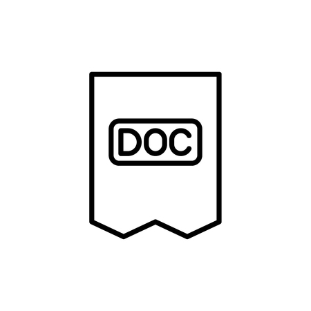 case: Premium document icon or logo in line style. High quality sign and symbol on a white background. Vector outline pictogram for infographic, web design and app development.