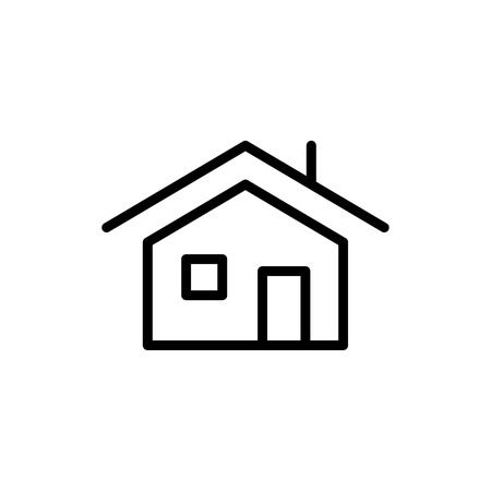 office building: Premium home icon or logo in line style. High quality sign and symbol on a white background. Vector outline pictogram for infographic, web design and app development.