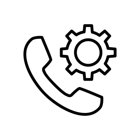 Premium phone icon or logo in line style. High quality sign and symbol on a white background. Vector outline pictogram for infographic, web design and app development.