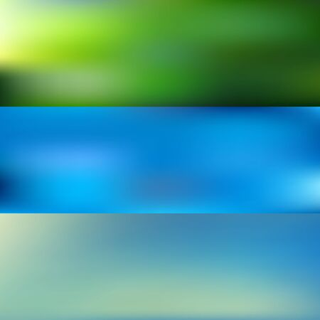 Big collection of smooth and blurry colorful gradient mesh background. Vector illustration with bright colors. Easy editable soft colored vector banner template. Premium quality.