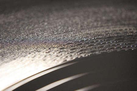 close up op vinyl LP record Standard-Bild