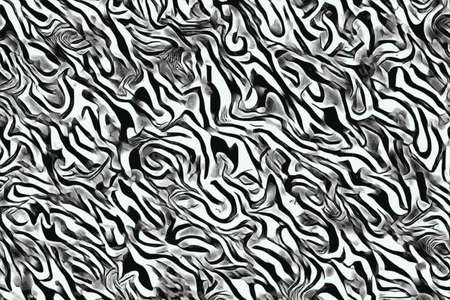 Abstract wave and curves patterns  monochrome background Imagens