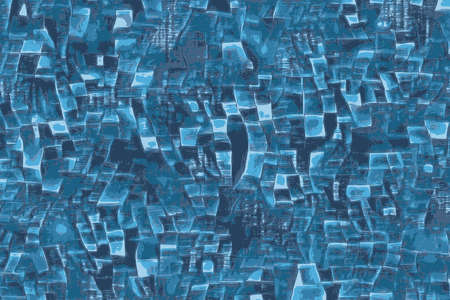 Abstract blue screen windows