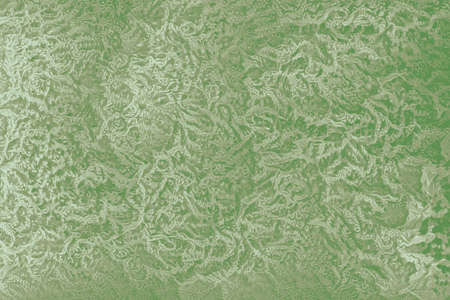 Green retro 60s wallpaper background with floral patterns