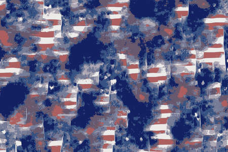 Abstract blue, red and white background