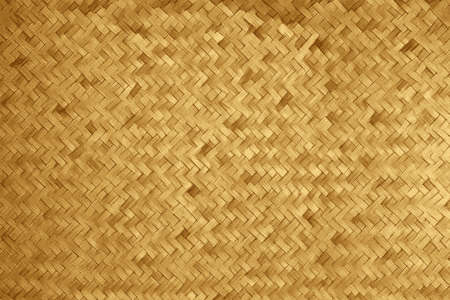 Woven texture of a bamboo basket made of straws