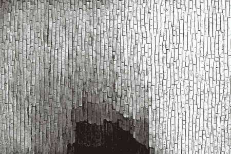 Abstract monochrome brick wall