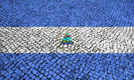 the americas: Flag of Nicaragua