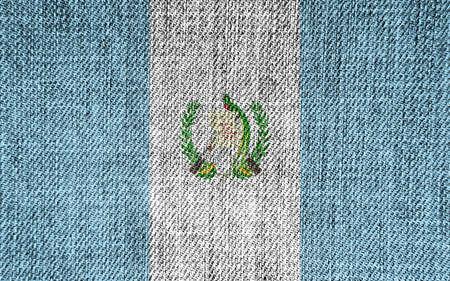 the americas: Flag of Guatemala Stock Photo