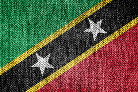 the americas: Flag of Saint Kitts and Nevis Stock Photo