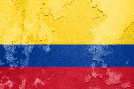 the americas: Flag of Colombia Stock Photo