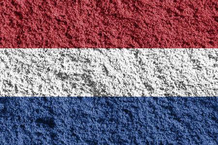 holland: Flag of Netherlands Stock Photo