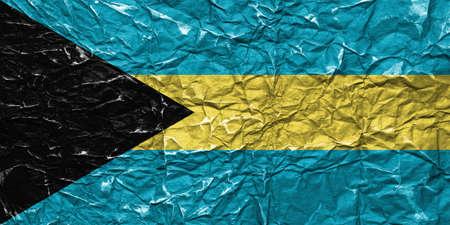 the americas: Flag of Bahamas Stock Photo