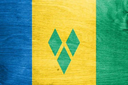 the americas: Flag of Saint Vincent and the Grenadines