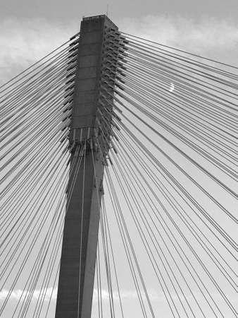Alex Fraser Bridge Tower Stock Photo