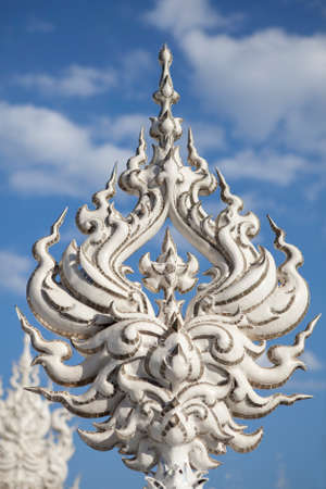 Wat Rong Khun, The beautiful temple at Chiang rai, Thailand  photo