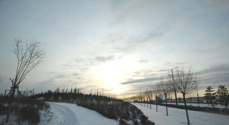 inner mongolia: Inner Mongolia winter snow