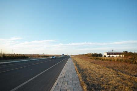 inner mongolia: Inner Mongolia winter highway scenery