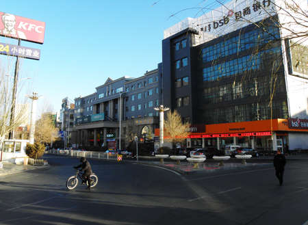 streetscape in Wulanchabu