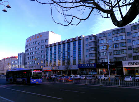streetscape in Inner Mongolia