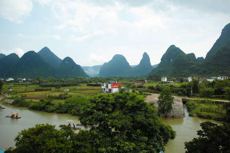 The landscape of the Yulong River