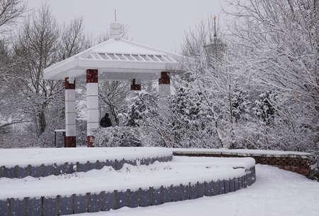 snowfall at Inner Mongolia Imagens