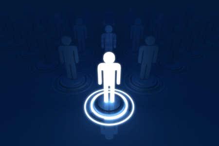Human 3D model Outstanding Light of Organization photo