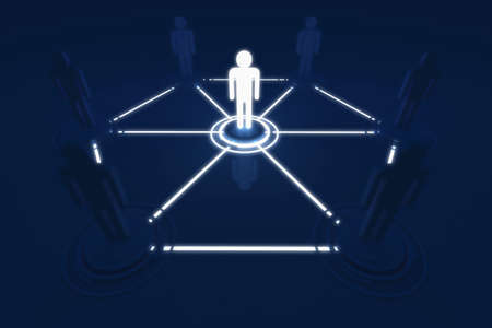 Human 3D model Outstanding Light Connection Link Organization photo