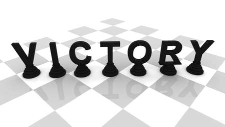Victory Chess 3D font render photo