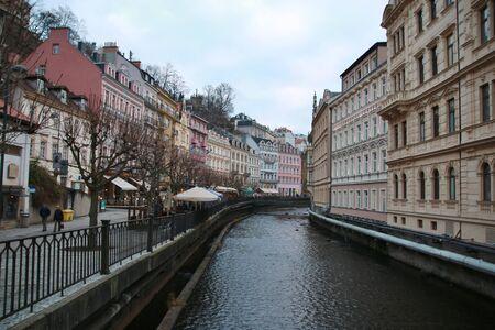 vary: City center in Karlovy Vary. Czech Republic Stock Photo