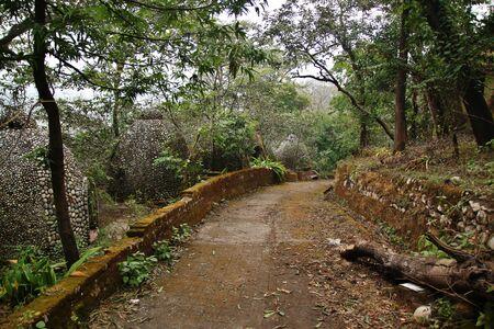 ashram: Maharishi Mahesh Yogis Ashram in Rishikesh, India