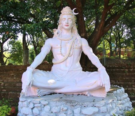 sanctity: Shiva statue in park of Rishikesh, India