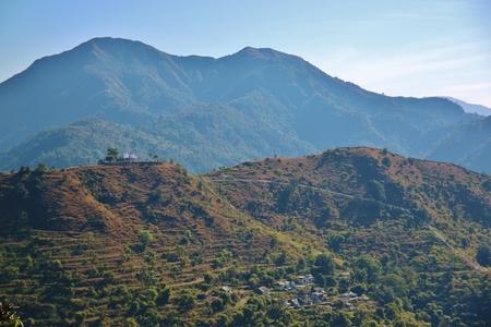 devprayag: Houses of people in Devprayag, Uttarakhand, India.