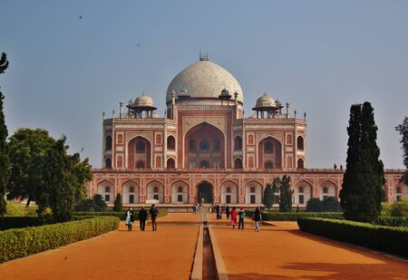 mughal architecture: Humayuns Tomb is a complex of buildings in Delhi, India Stock Photo