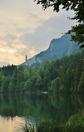 Neuschwanstein Castle in the Bavarian Alps of Germany. photo